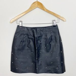 LF Furst of a Kind Faux Leather Studded Skirt Mini
